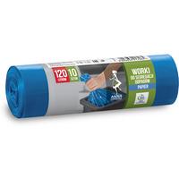 Worki do segregowania odpad.papierowych niebieskie LDPE 120L (10 szt.) ANNA ZARADNA 7065