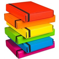 Teczka z gumką BOX 341/11 różowa 5cm VAUPE
