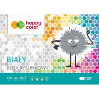 Blok rysunkowy biały A4, 100g; HA 3710 2030-0 HAPPY COLOR