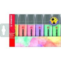 Zakreślacz STABILO BOSS kolory pastelowe komplet 6szt. 70/6-2