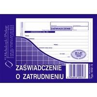 502-5 Zaświadczenie o zatrudnieniu MICHALCZYK&PROKOP A6 80 kartek