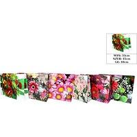 Torebka ozdobna laminowana kwiaty 45x33x10cm (12) ROZETTE