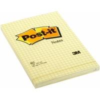 Bloczek 3M POST-IT 662 102x152mm żółte 100k kratka /UU009543230