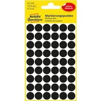 Etykiety ZF Q12 3140 czarne kółka AVERY ZWECKFORM