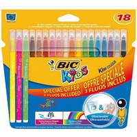 Flamastry 15+3fluo KID COULEUR 921359/937511 BIC