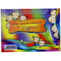 Zeszyt papierów kolorowych tęczowych A5 8k 00792 KRESKA
