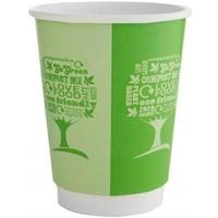 Kubki papierowe dwuwarstwowe GREEN TREE 350ml(25szt)VDW-12-GT 100% bio