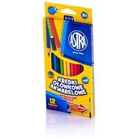 Kredki ołówkowe akwarelowe 12 kolorów 312110004 ASTRA