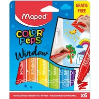 Flamastry do szyb COLORPEPS WINDOW 6 szt. 844820 MAPED
