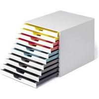 Pojemnik z dziesięcioma kolorowymi szufladkami VARICOLOR mix 10, 763027 DURABLE