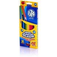 Kredki ołówkowe trójkątne 12 kolorów 312110002 ASTRA