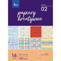 Zeszyt papierów kreatywnych A3 100g. 16 ark. KB031-02 TETIS