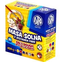 Masa solna 450g + 6 kolorów farb do malowania 324109001 ASTRA