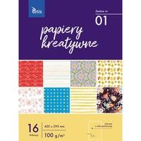 Zeszyt papierów kreatywnych A3 100g. 16 ark. KB031-01 TETIS