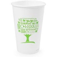Kubki papierowe GREEN TREE 480ml(50szt)LV-16-GT 100% biodegradowalne