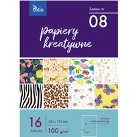 Zeszyt papierów kreatywnych A4 100g. 16 ark. KB030-08 TETIS