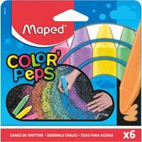 Kreda chodnikowa COLOR PEPS 6 kolorów, pud z zawieszką 936010 MAPED