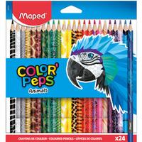 Kredki Color Peps Animals trójkątne 24 szt pud. z zaw. 832224 MAPED