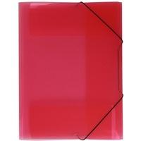 Teczka A4 z gumką - szeroka. transparent czerwony TG-12-01 BIURFOL