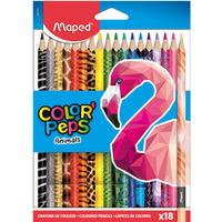 Kredki Colorpeps animals trójkątne 18 szt pud. z zaw. 832218 MAPED