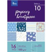 Zeszyt papierów kreatywnych A4 100g. 16 ark. KB030-10 TETIS