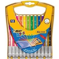 Flamastry KID COULEUR 12kolorów opakowanie plastikowe 933964 BIC