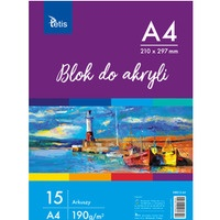 Blok do akryli A4 190g 15ark KB012-A4 TETIS