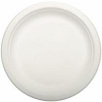 Talerz z trzciny cukrowej 18cm, biały(50szt)84582 100% biodegradowalny