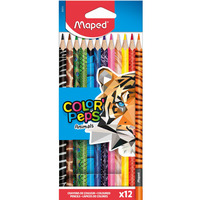 Kredki Colorpeps animals trójkątne 12 szt pud. z zaw. 832212 MAPED