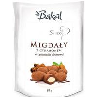 Migdały w czekoloadzie deserowej z cynamonem BAKAL Sweet, 80g ABAK-078