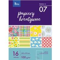 Zeszyt papierów kreatywnych A4 100g. 16 ark. KB030-07 TETIS