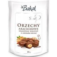 Orzechy arachidowe smażone solone w czekoladzie BAKAL Sweet, 80g ABAK-079