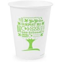 Kubki papierowe GREEN TREE 350ml(50szt)LV-12-GT 100% biodegradowalne