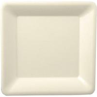 Talerz z trzciny cukrowej kwadratowy 15x15cm biały(50szt)82452 100% bio
