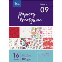 Zeszyt papierów kreatywnych A4 100g. 16 ark. KB030-09 TETIS