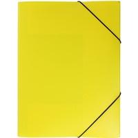 Teczka A4 z gumką - szeroka. kolor żółty TG-02-04 BIURFOL