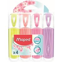 Zakreślacz fluo peps pastel mix kolorów 4 szt etui pud. z zaw 742546 MAPED