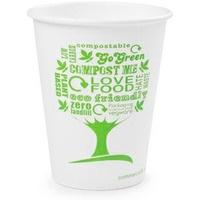 Kubki papierowe GREEN TREE 250ml(50szt)LV-8-GT 100% biodegradowalne