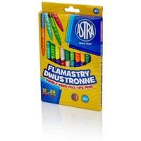 Flamastry dwustronne 12 sztuk = 24 kolory 314118001 ASTRA