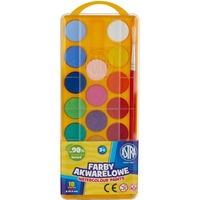 Farby akwarelowe 18 kolorów - fi 23, 5 mm z eurozawieszką 83210900 ASTRA