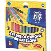 Kredki ołówkowe akwarelowe 24 kolory 312110005 ASTRA