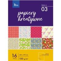 Zeszyt papierów kreatywnych A3 100g. 16 ark. KB031-03 TETIS