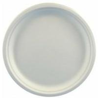 Talerz z trzciny cukrowej 26cm biały (50szt)45189 100% biodegradowalny