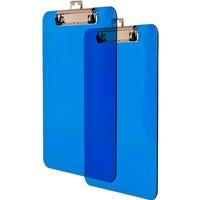 Deska z klipem A4 transparentna niebieska BD641-N TETIS