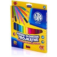 Kredki ołówkowe trójkątne 24 kolory 312110003 ASTRA