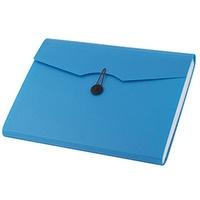 Teczka A4 12 przegródek 5580 niebieska 110390 D.RECT