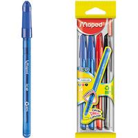 Długopis ICE 4sztuki(2 niebieskie,1czarny,1czerwony) 224404 MAPED