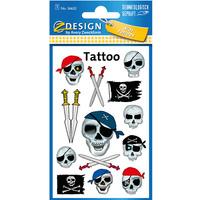 Naklejki tatuaże dla dzieci PIRACI 56632 Z-DESIGN KIDS TATTOO AVERY ZWECKFORM