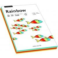 Papier xero kolorowy A4 80g RAINBOW mix intensywny 88043188