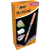 Markery BIC permanentne INTENSE zielony, brzoswkinia, błękitny, fiolet po3szt. 950469